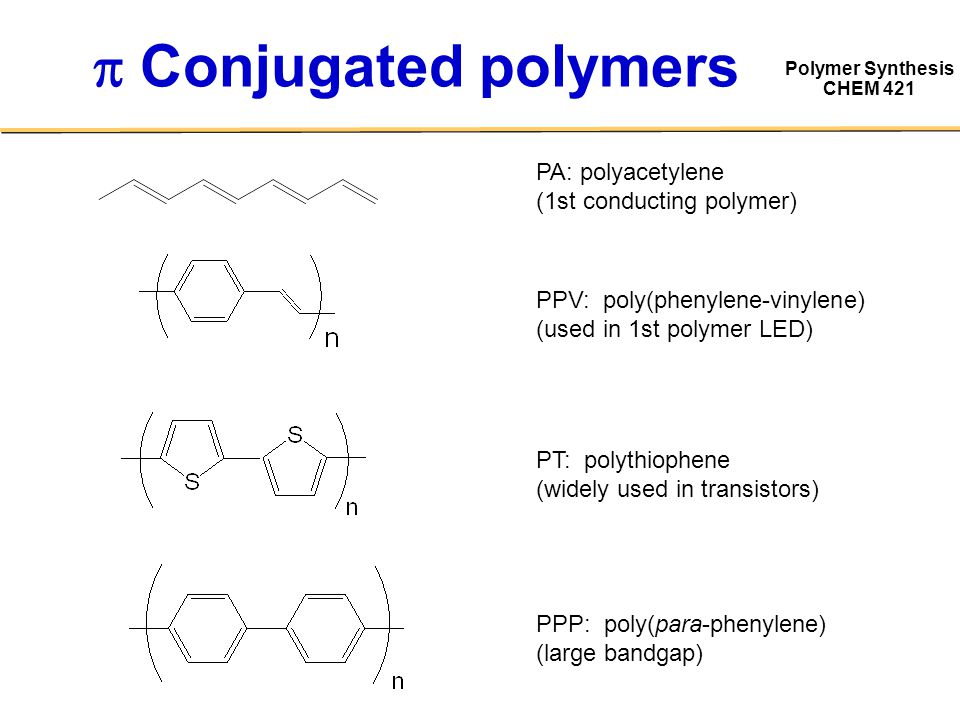 Image result for conjugated polymers