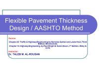 Flexible Pavement Thickness Design / AASHTO Method - ppt ...