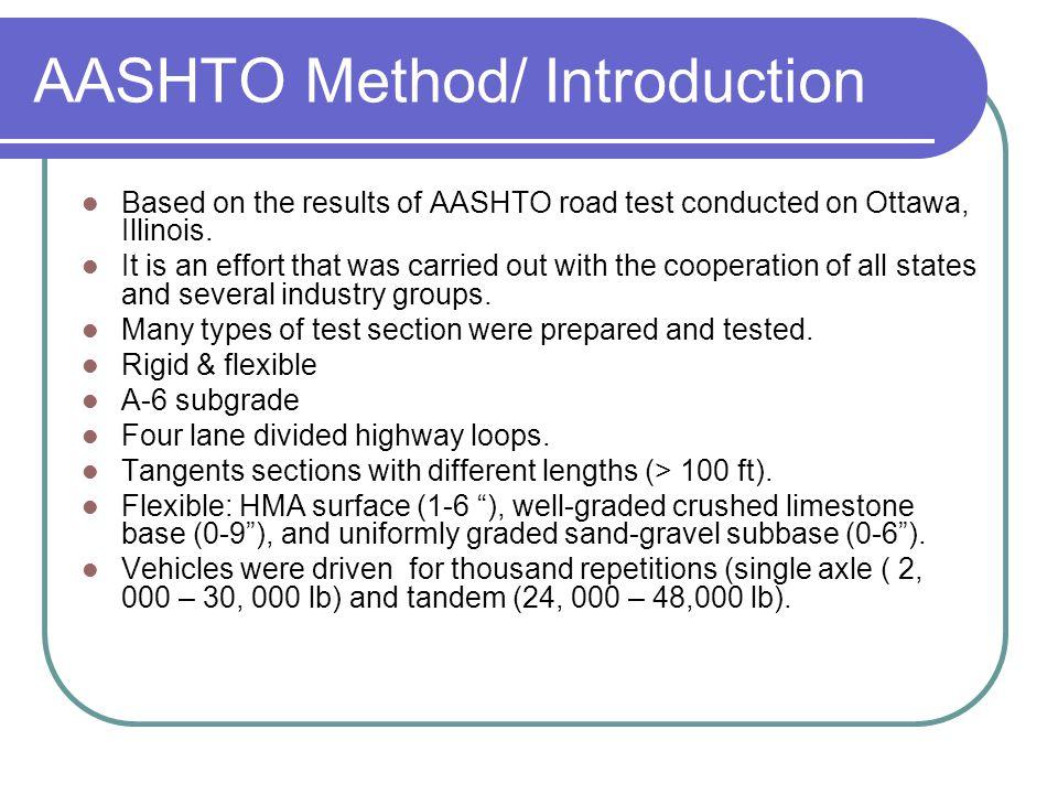 Flexible Pavement Thickness Design / AASHTO Method