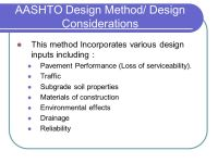 Flexible Pavement Thickness Design / AASHTO Method
