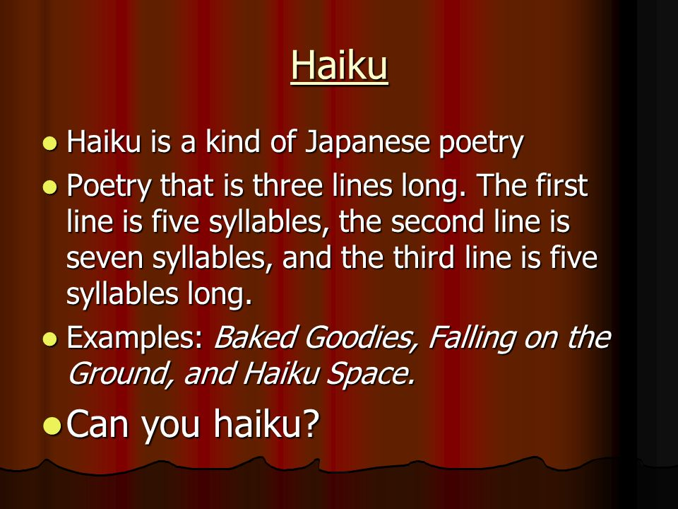 Poetry Learning Ballads Free Verse Sonnets Haiku Odes