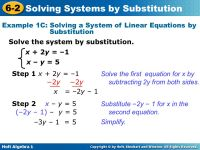 Warm Up Solve each equation for x. 1. y = x y = 3x  4 ...