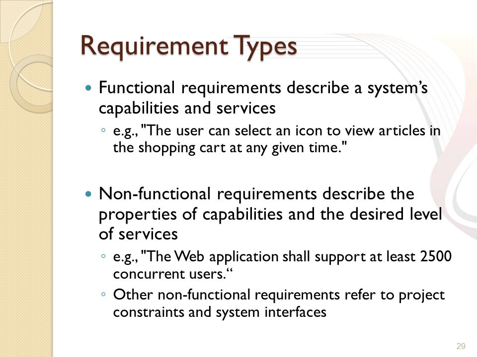 Requirements Application Web Security