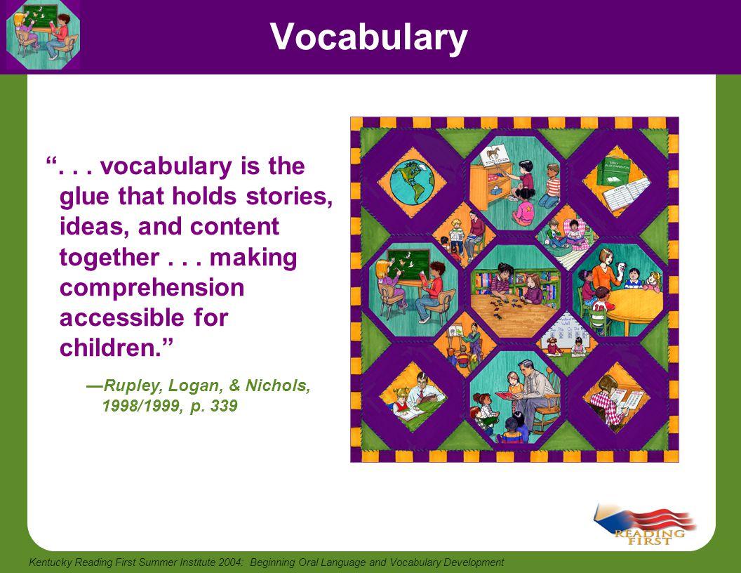 Beginning Oral Language And Vocabulary Development