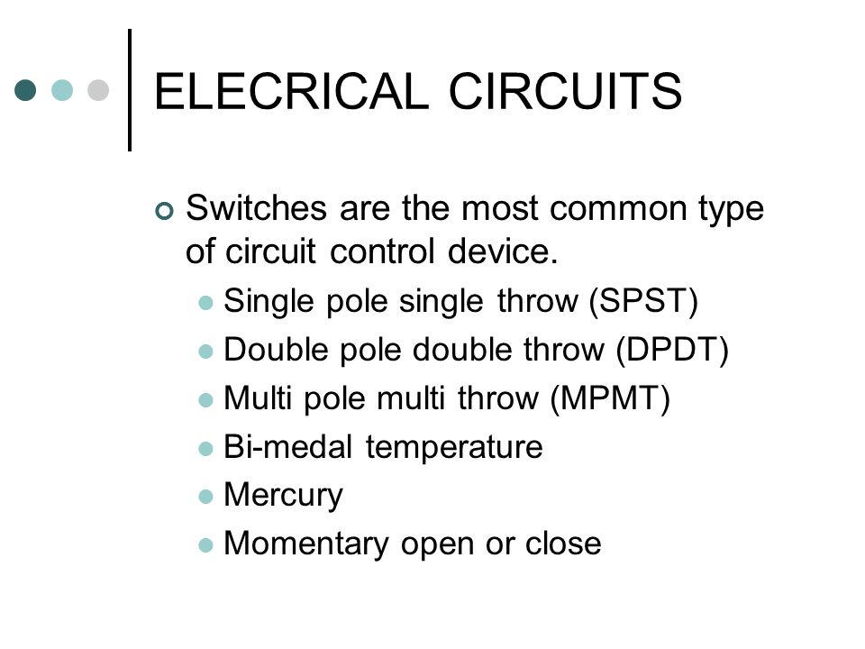 ELECRICAL+CIRCUITS+Switches+are+the+most+common+type+of+circuit+control+device.+Single+pole+single+throw+%28SPST%29 double pole double throw switch schematic dolgular com wiring diagram for double pole double throw switch at bakdesigns.co