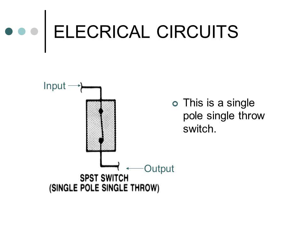 double pole single throw light switch diagram