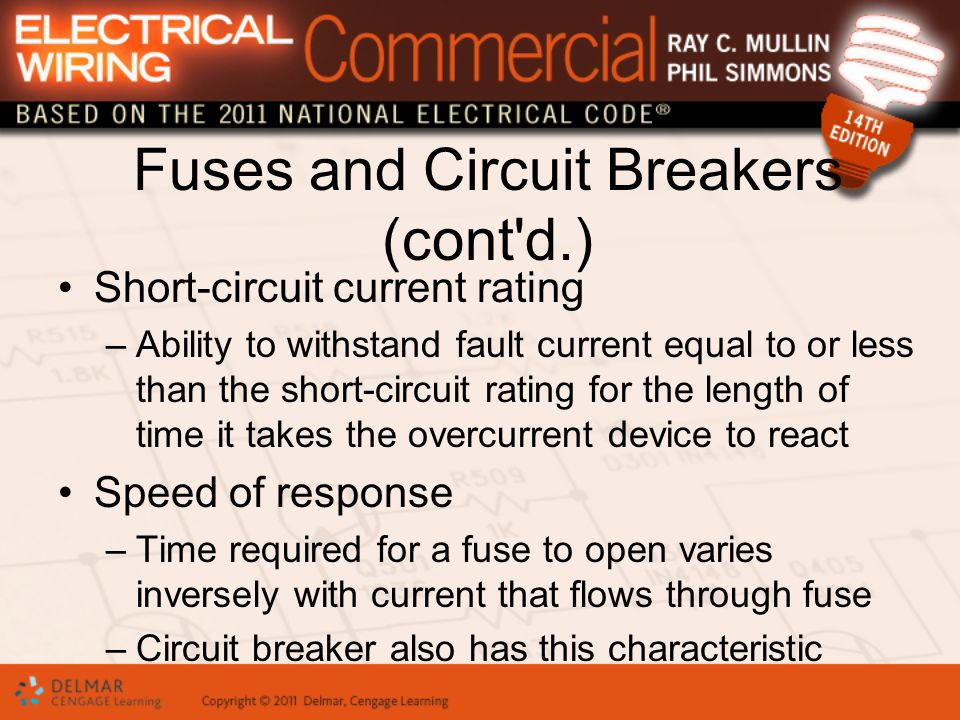 Fuses And Circuit Breakers Are Intended Primarily - Idee per la