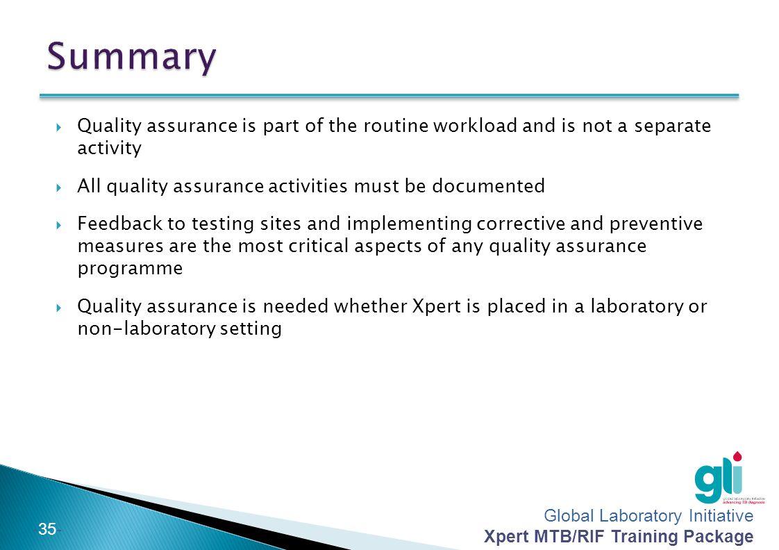 Module 12 Quality Assurance