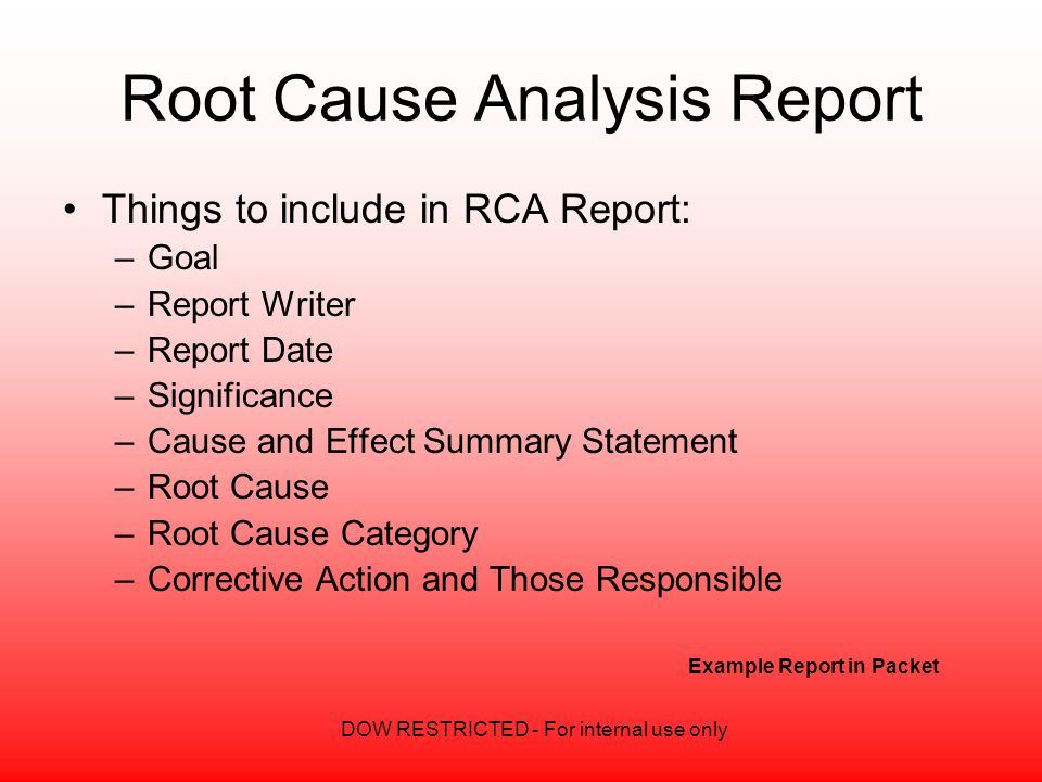 incident report root cause analysis