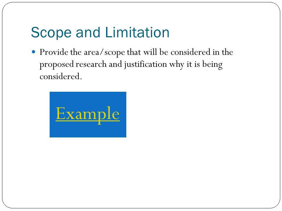 scope and limitations academic Your limitations as a counselor are determined by your level of experience, your expertise in a given counseling area and the legal requirements regarding your responsibility to warn in your practicing state.