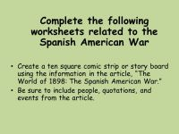 Printable Worksheets  Spanish American War Worksheets ...