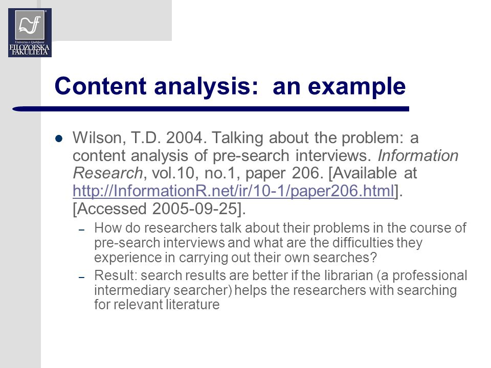 Content Analysis In Research Paper Coursework Academic Writing