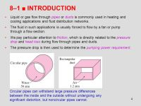 Chapter 8: Flow in Pipes (Internal Flow) - ppt download
