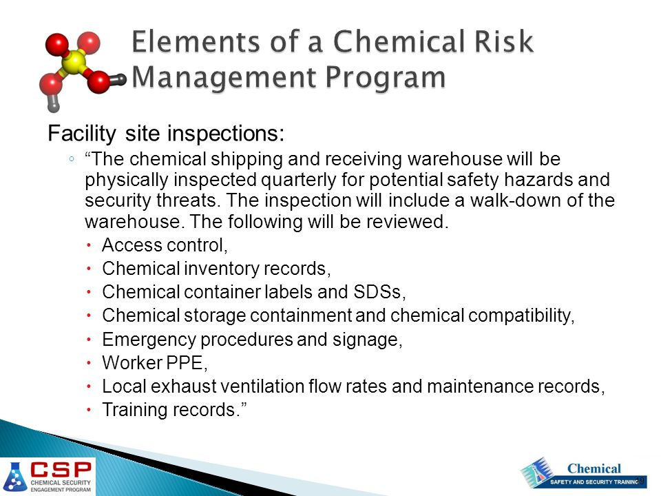 Developing a Chemical Risk Management Program  ppt video online download