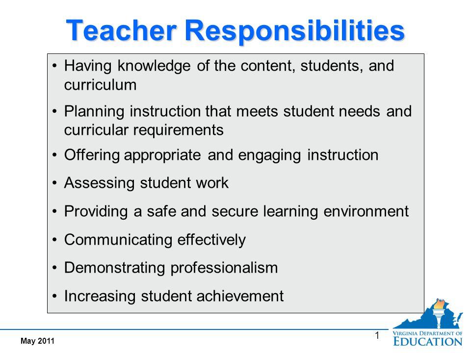 Teacher Responsibilities  ppt video online download