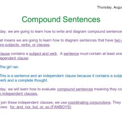 Diagramming Sentences With Conjunctions Kenwood Kdc 248u Wiring Harness Diagram Parts Of Speech August 25 29 Ppt Download