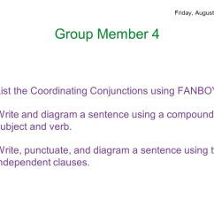 Diagramming Sentences With Conjunctions Mercedes Benz Wiring Diagrams Parts Of Speech August 25 29 Ppt Download