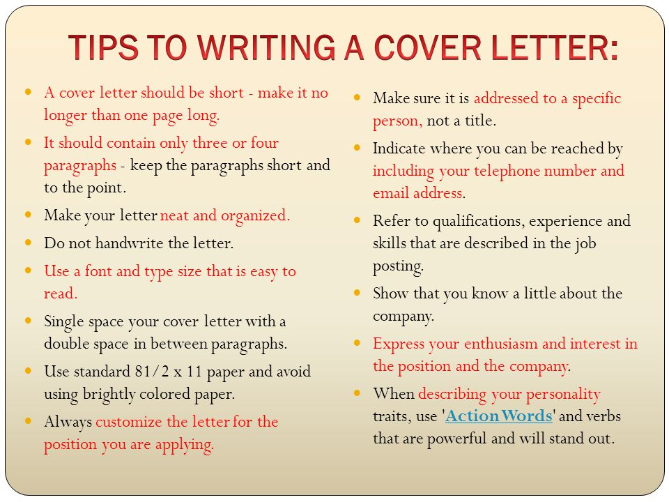 how to write a cover letter with little experience