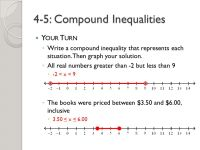 Printable Worksheets  Compound Inequality Worksheets