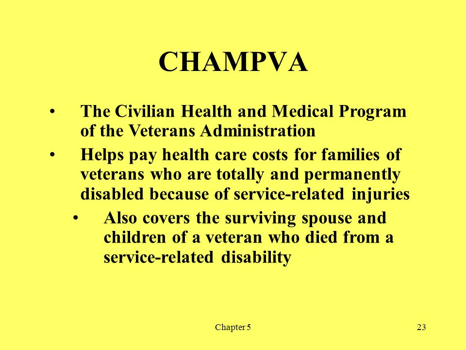 Medicaid TRICARE CHAMPVA Workers Compensation and