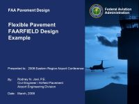 Flexible Pavement FAARFIELD Design Example - ppt video ...