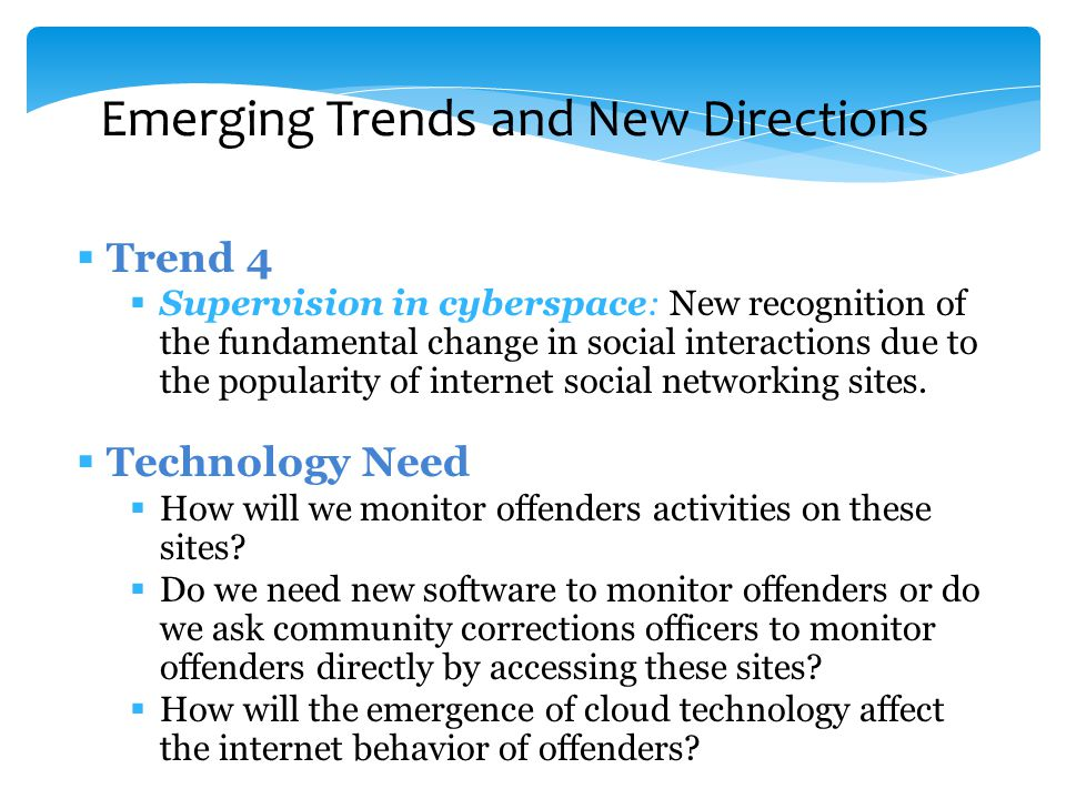 Technological Innovations In Corrections An Evidencebased