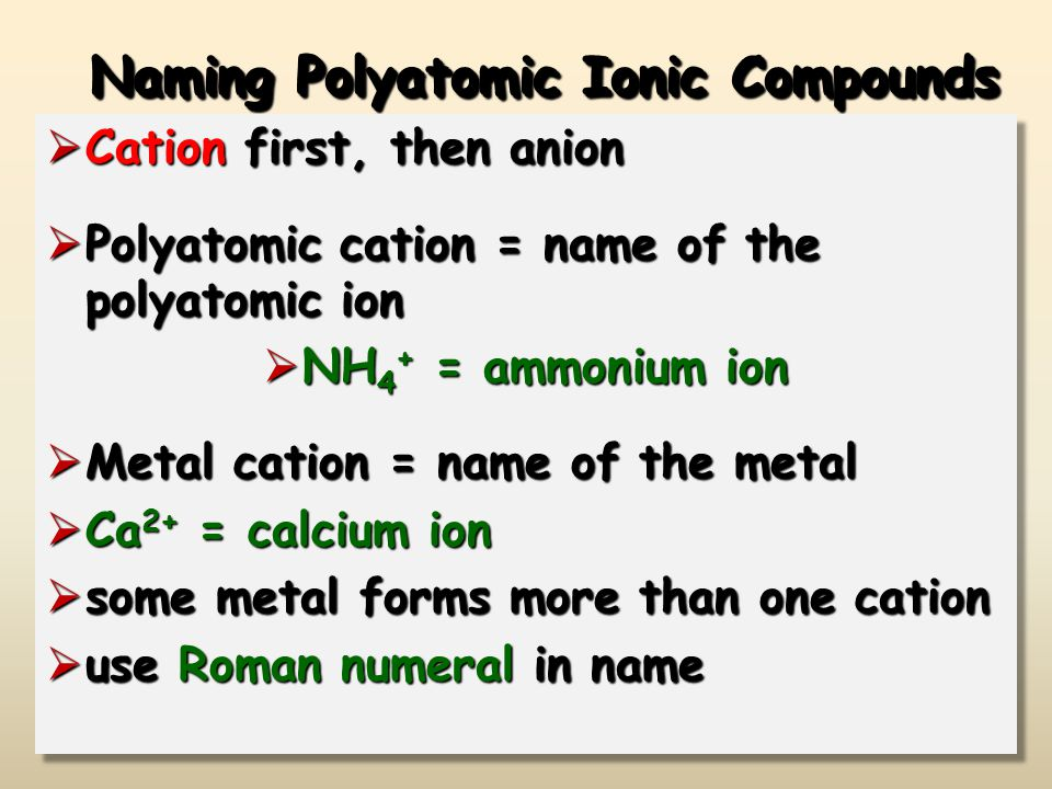 Predicting And Naming Polyatomic Ionic Compounds Worksheet