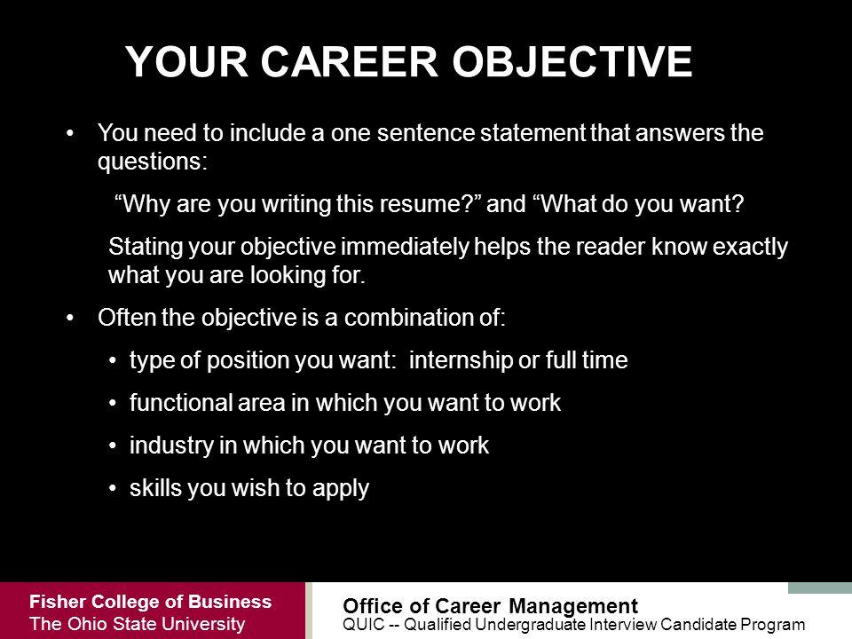 Qualified Undergraduate Interview Candidate QUIC Ppt