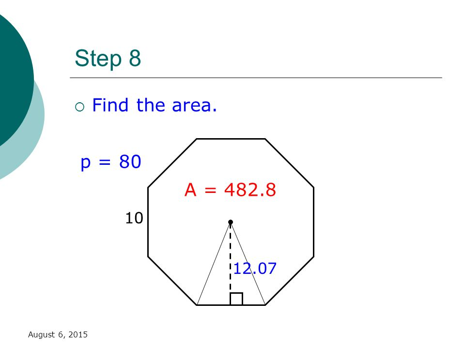 Apothem Triangle Regular Area