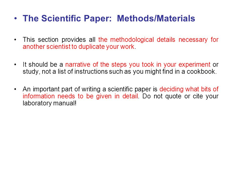 Writing Good Scientific Papers Ppt Download