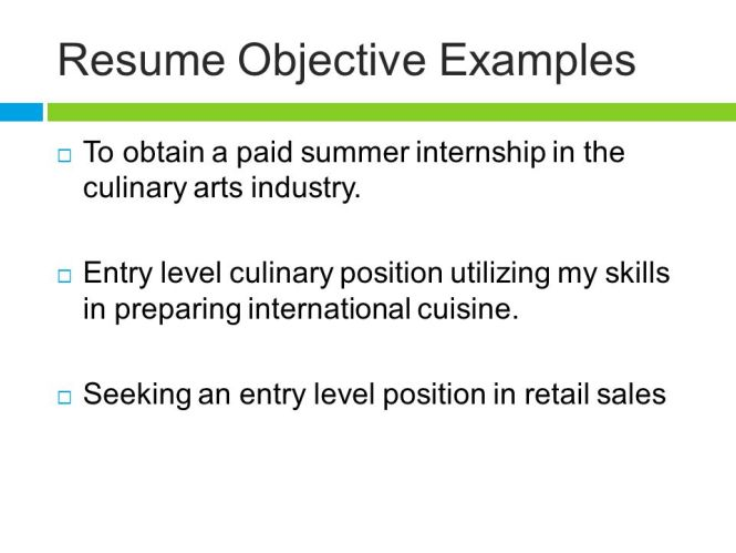 resume objectives for culinary arts best culinary 2017