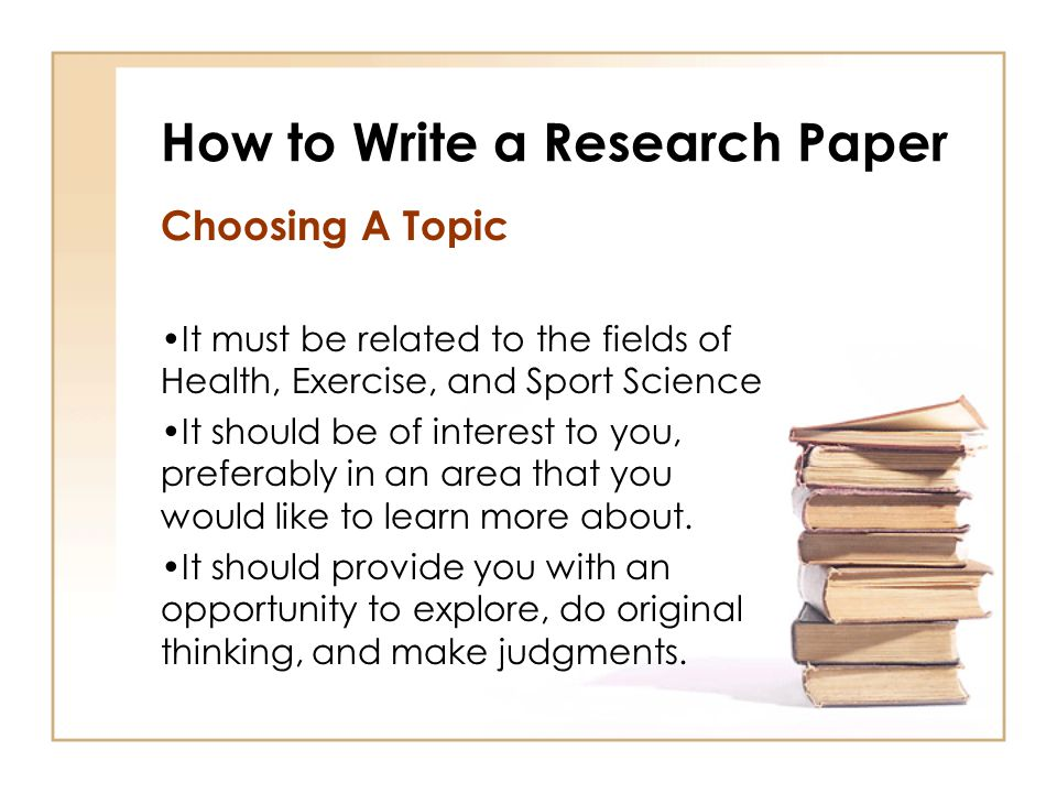 How To Write A Research Paper How To Write A Research Paper And