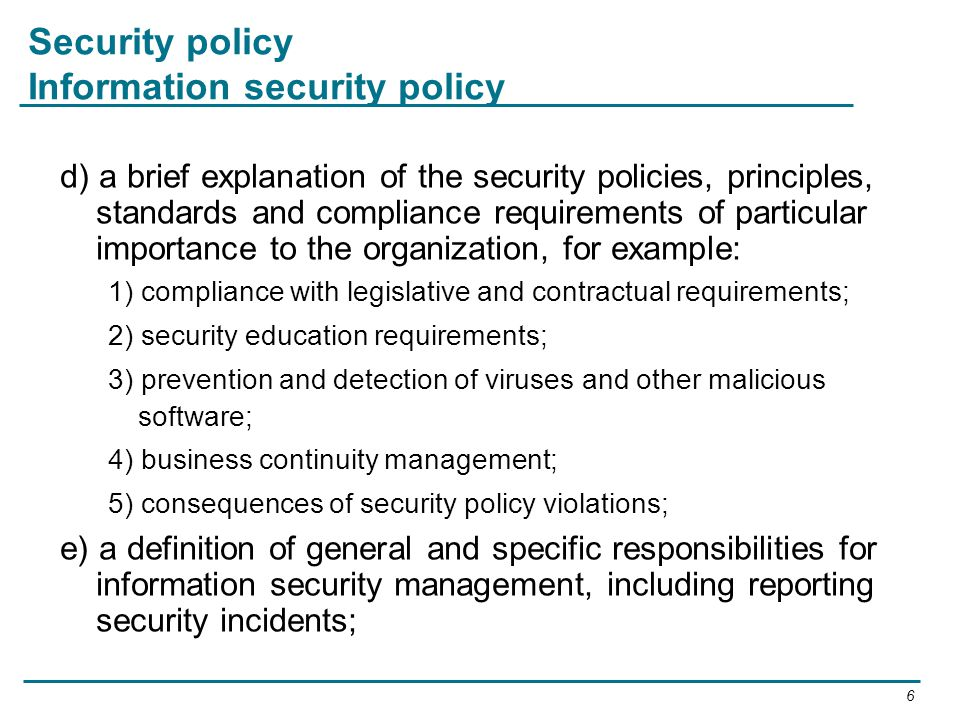 Session 3  Information Security Policies  ppt video online download