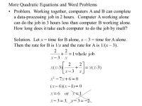 Quadratic Word Problems Worksheet Worksheets For School ...