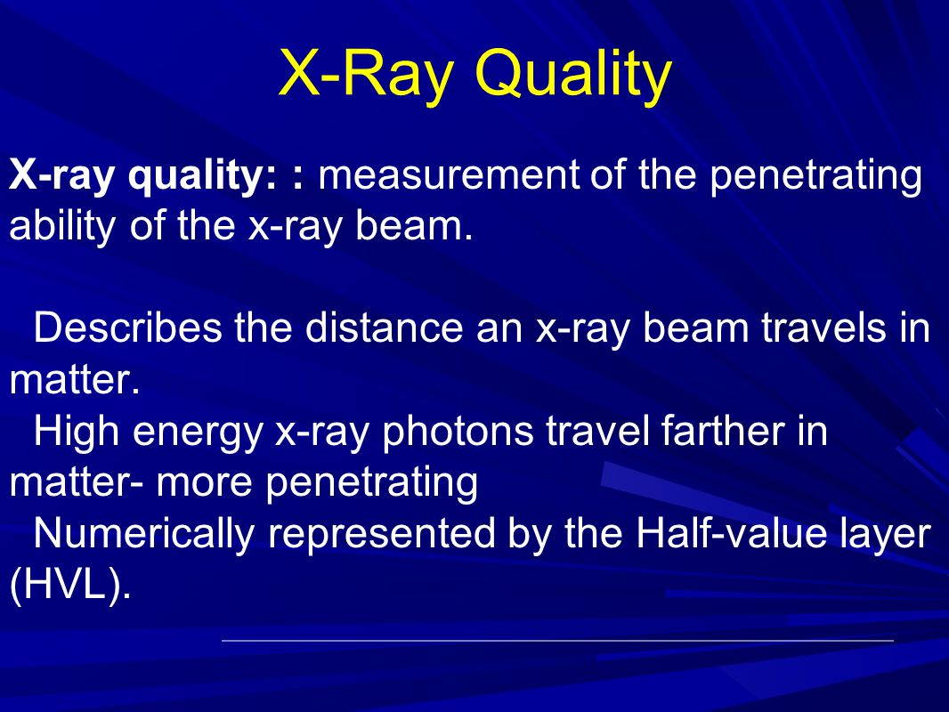 Factors Affecting The X Ray Output