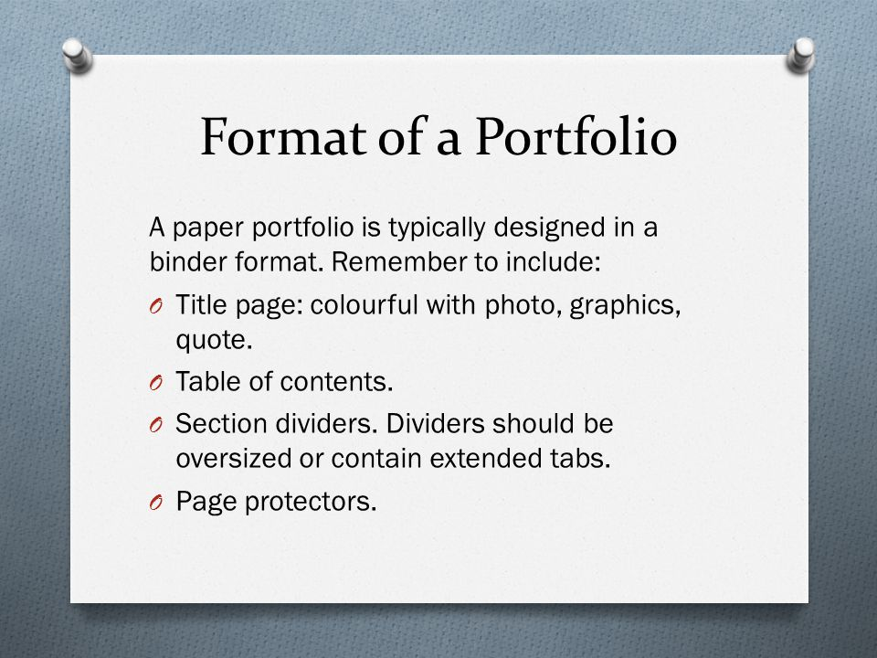 Portfolio Development Ppt Download