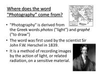 The History of Photography - ppt download