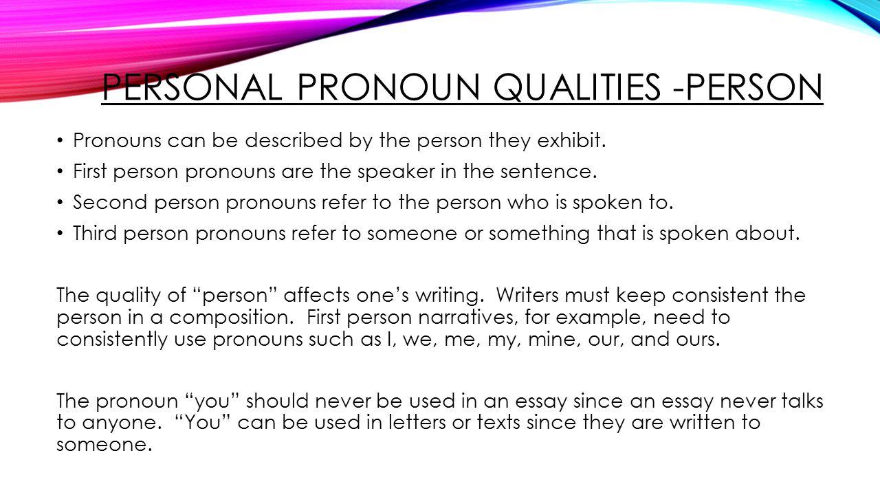 Essay In Third Person Descriptive Person Essay Third Person Essay Co
