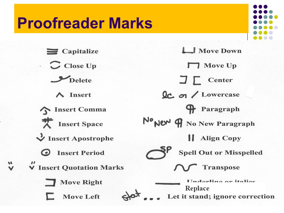 What Are Proofreading Marks