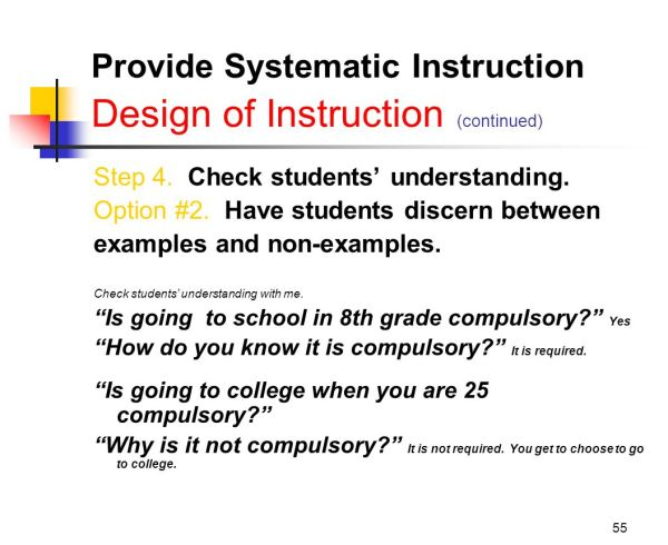 Explicit Instruction - Pathway Common Core State Standards And Response