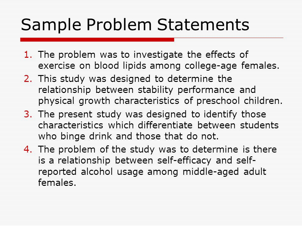 Dissertation Proposal Statement Of The Problem Homework Academic