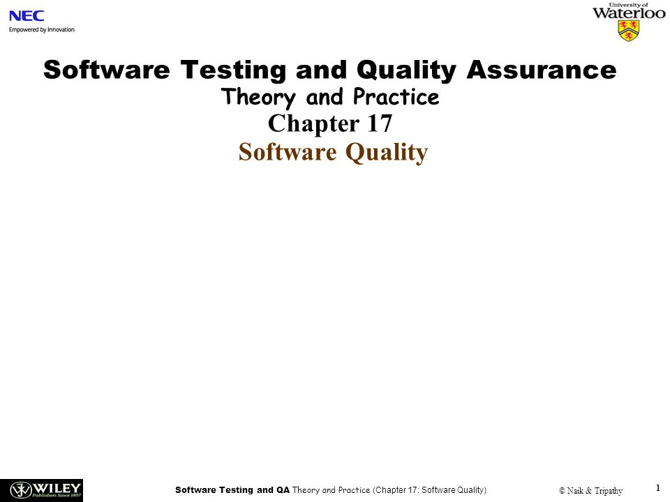 Handouts Software Testing and Quality Assurance Theory and
