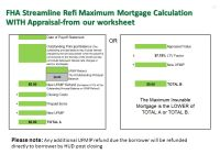 Fha Streamline Refinance Worksheet. Worksheets. Ratchasima ...