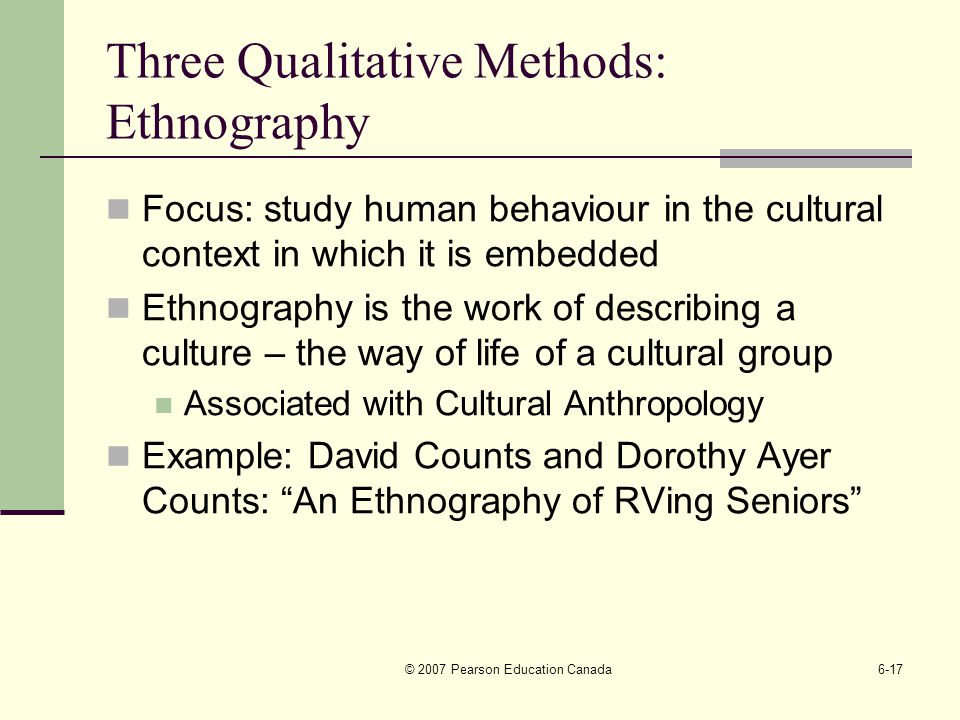 Chapter 6 Qualitative Research Methods Ppt Video Online Download