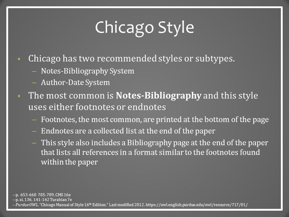 Chicago Style The Basics Dr Robert T Koch Jr Ppt Video Online