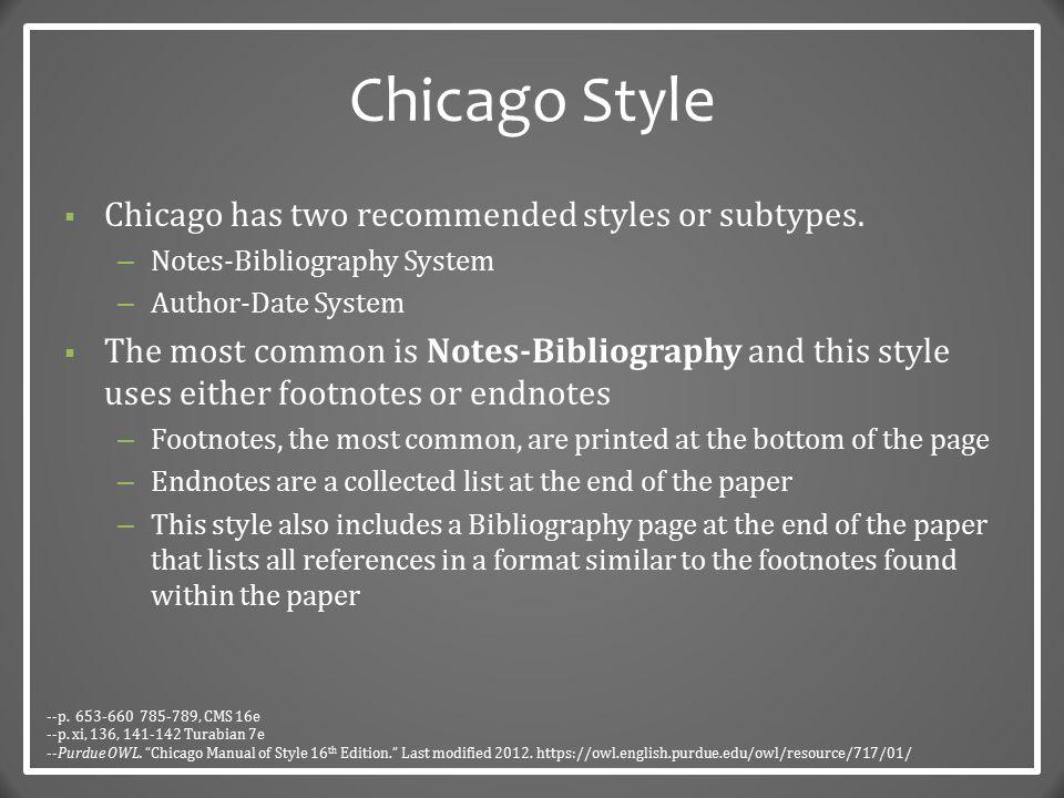 Chicago Style The Basics Dr Robert T Koch Jr Ppt