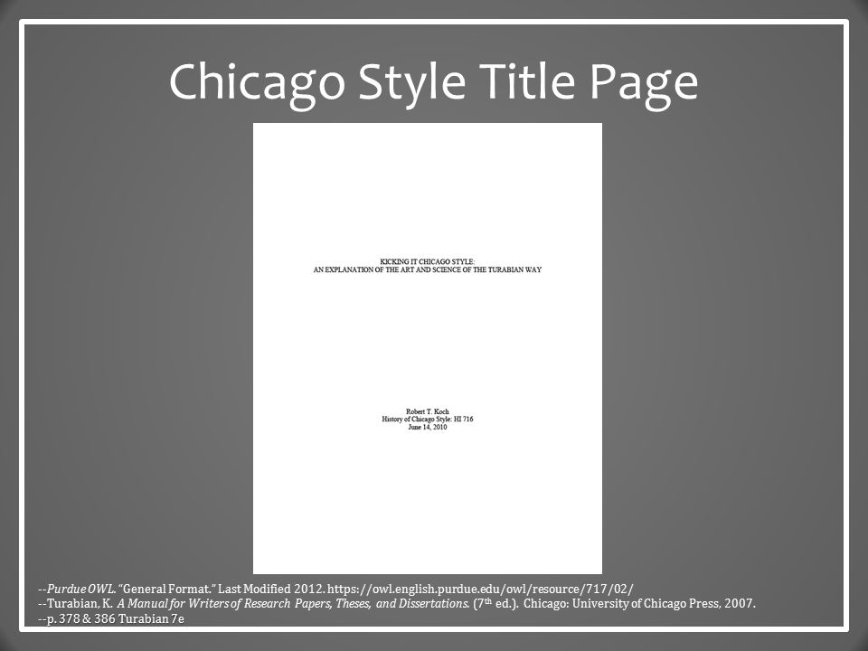 Slideplayer Com 5835301 19 Images 6 Chicago Style