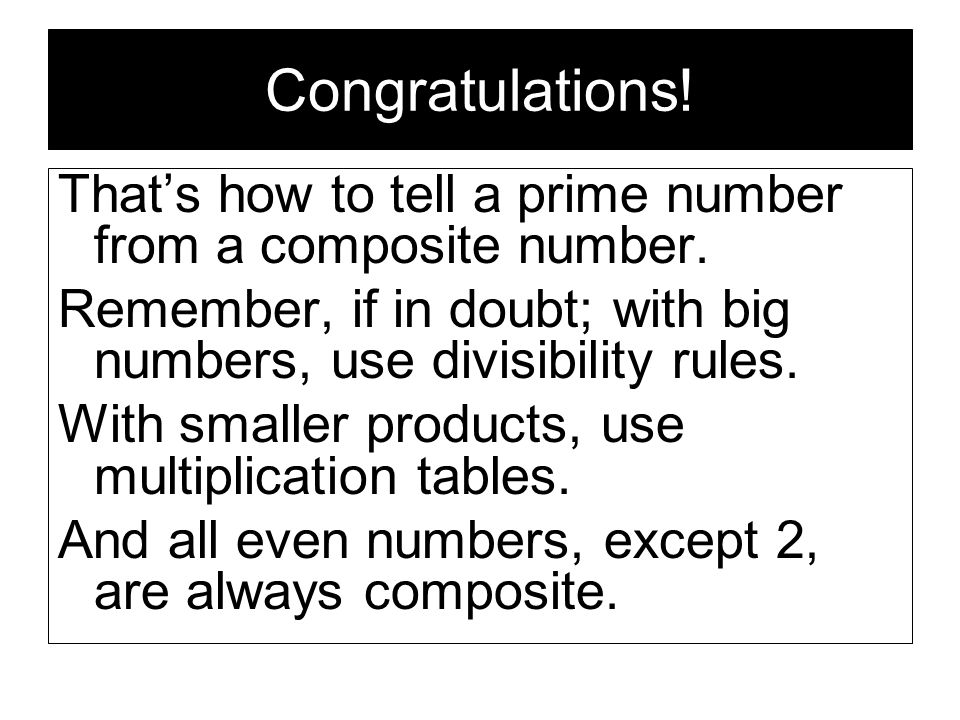 Prime and composite numbers are all about multiplication