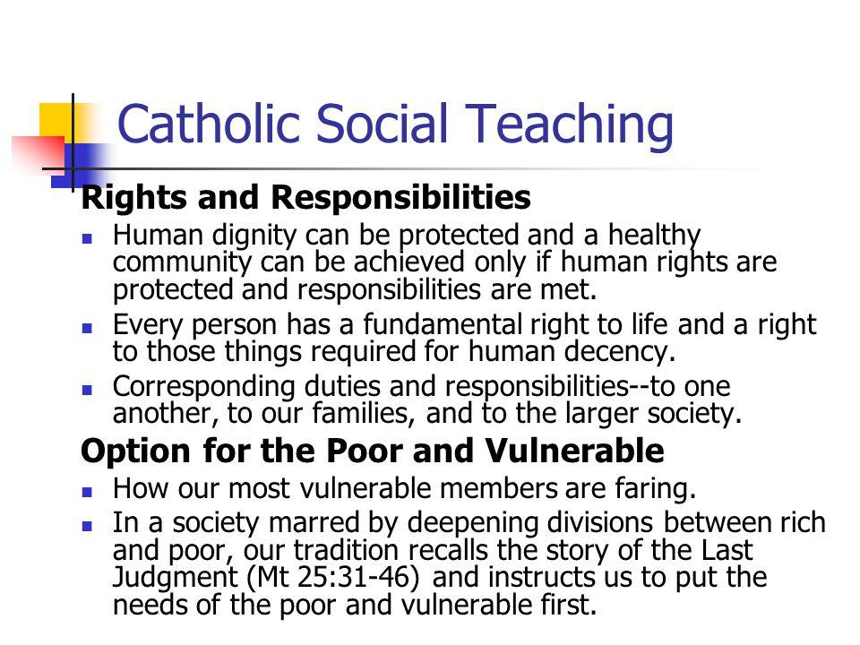 Dignity Teaching Social Human Catholic
