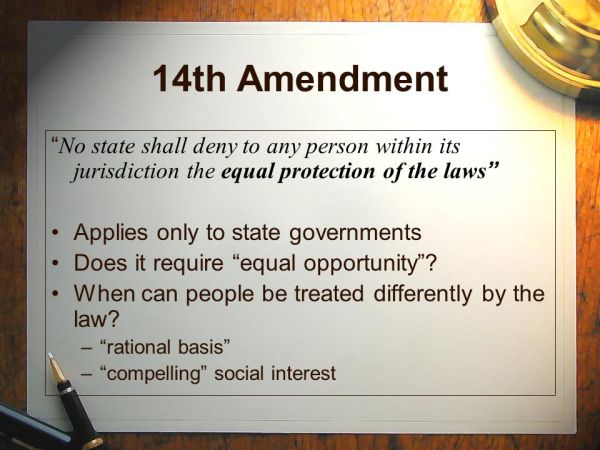 The 14th Amendment to the US Constitution ppt video